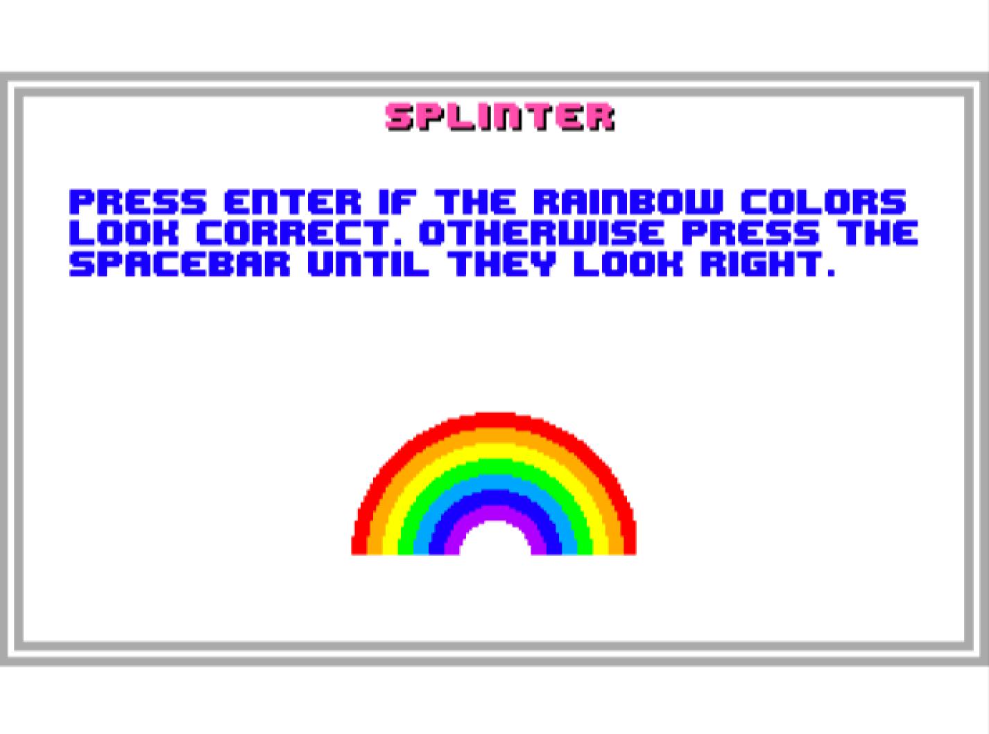 Rainbow Screen
